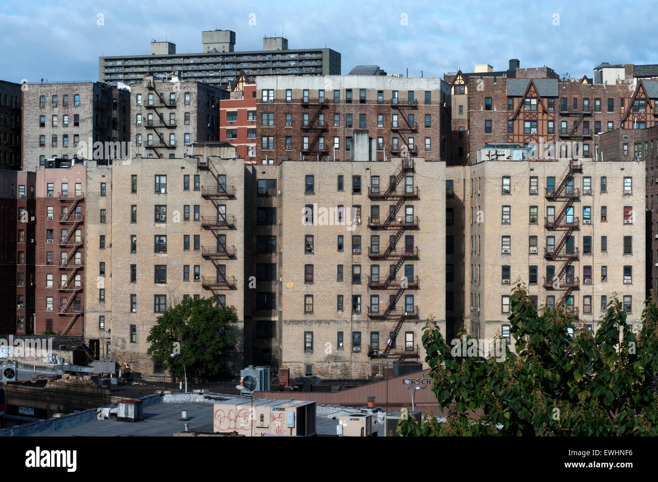 Typical landscape and buildings in the Bronx. Bronx Thinking nothing can make us imagine some friendly faces and - Stock Image
