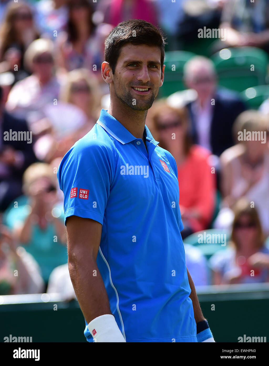 Slough, Berkshire, UK. 26th June, 2015. The Boodles Tennis Tournament. Novak Djokovic versus Alexander Zverev Credit: - Stock Image