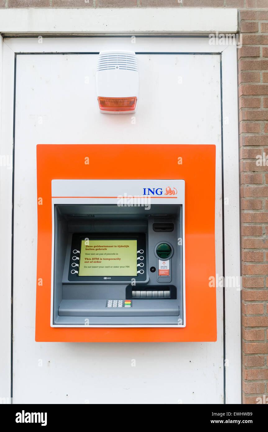 ING ATM cash machine Stock Photo