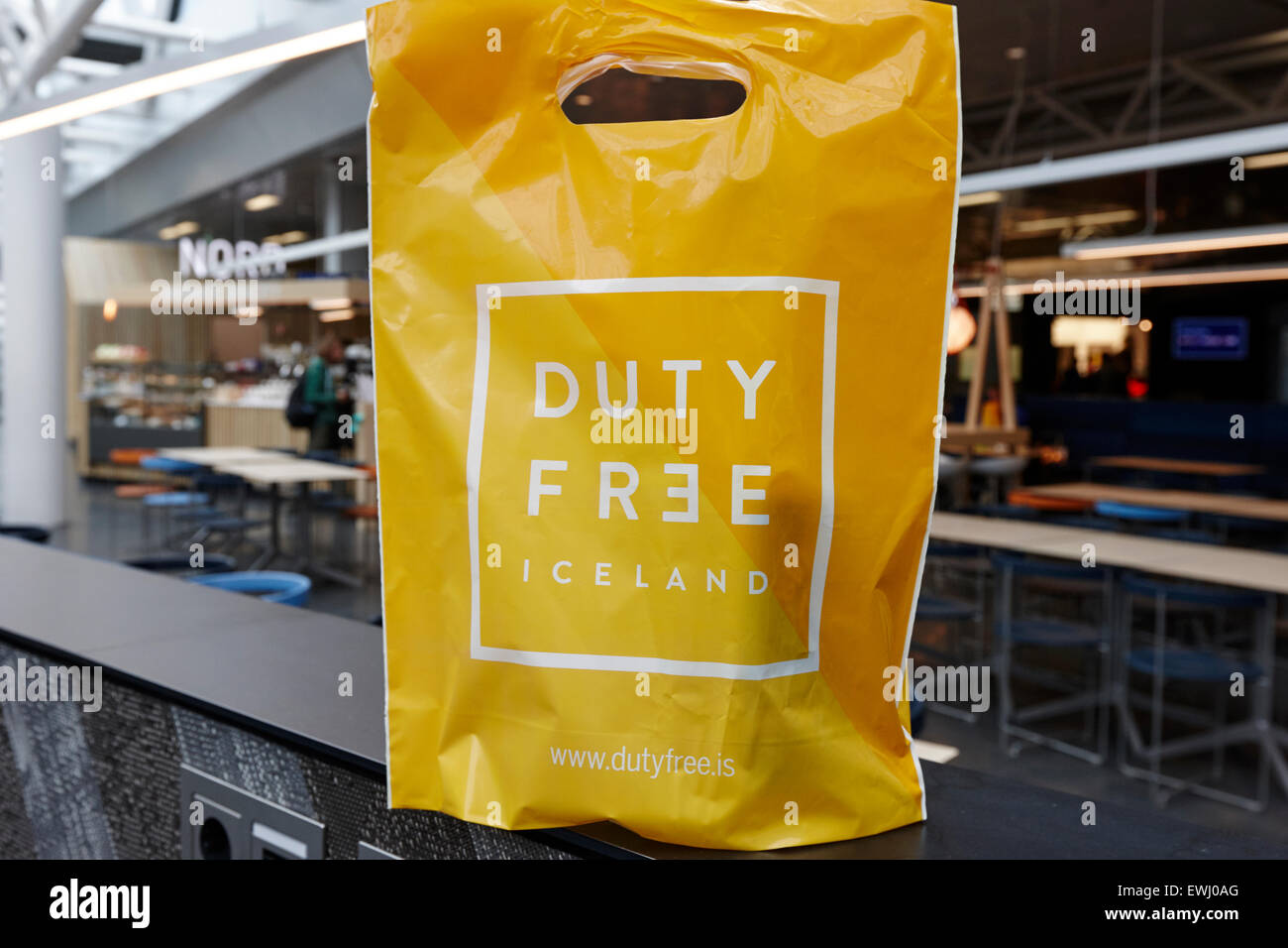 Duty Free Shopping Bag At Keflavik Airport Departures Area Terminal