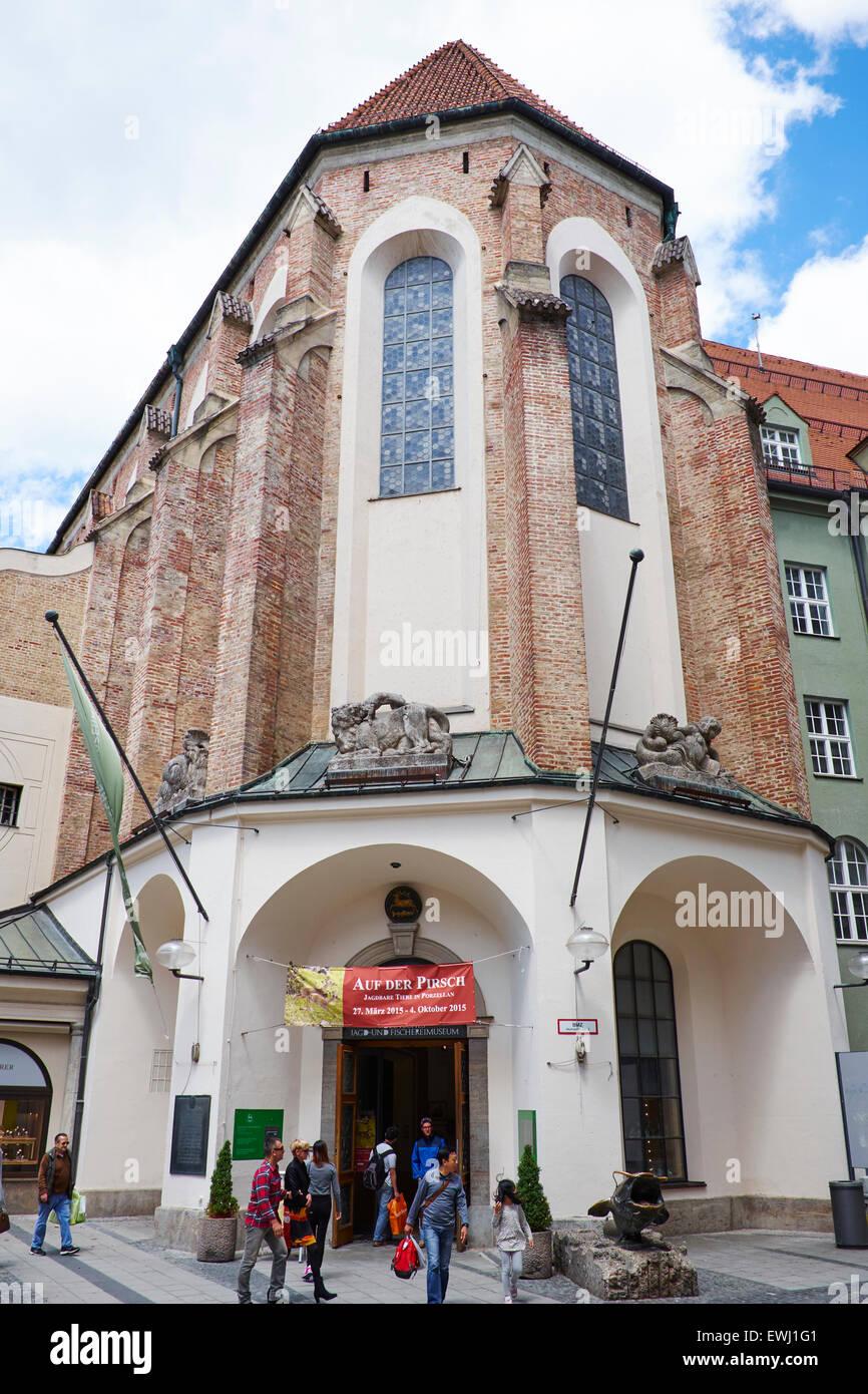 Deutsches Jagd-und Fischereimuseum A Hunting & Fishing Museum Neuhauser Street Munich Bavaria Germany - Stock Image