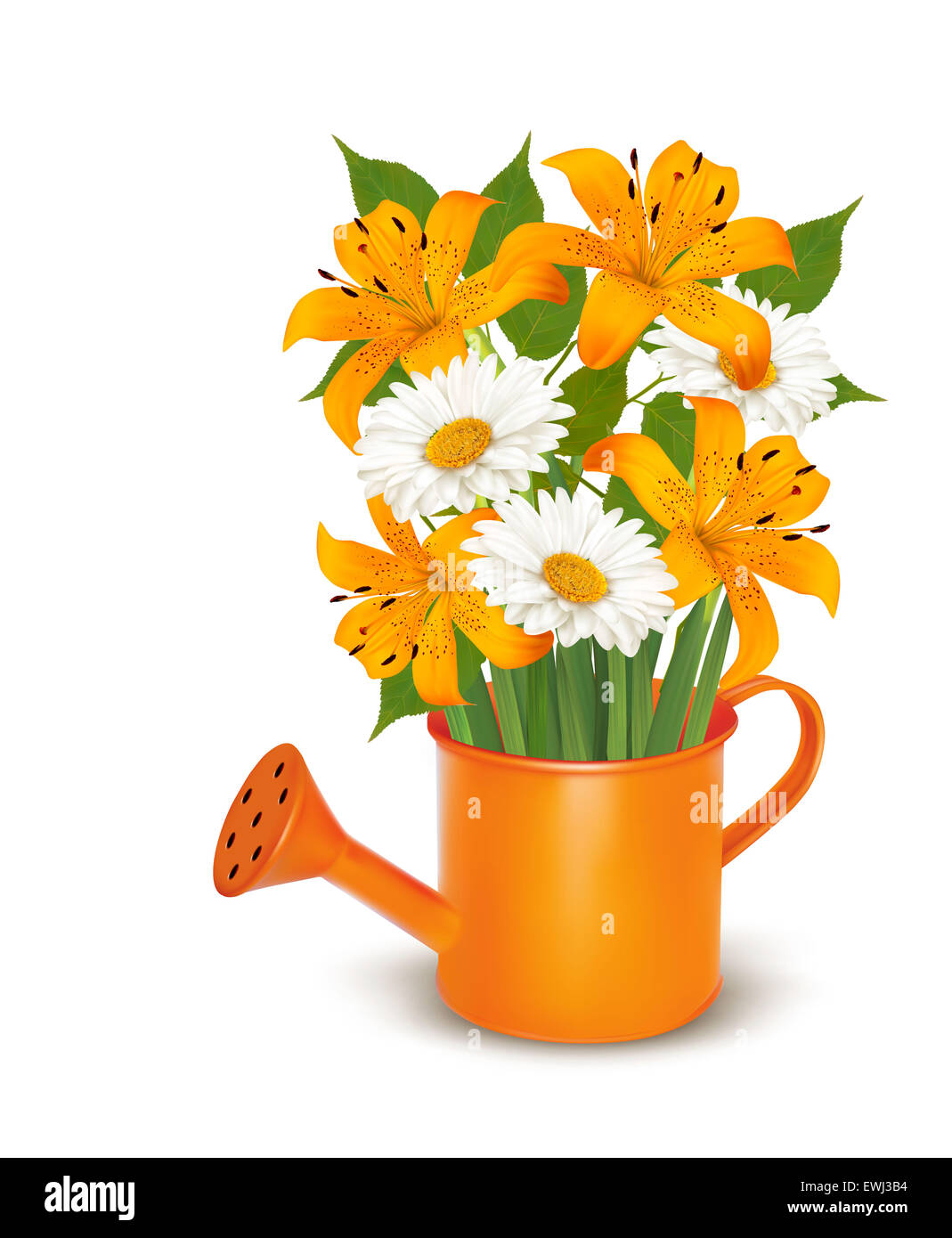 Watering can with a bouquet of flowers vector stock photo 84605672 watering can with a bouquet of flowers vector izmirmasajfo