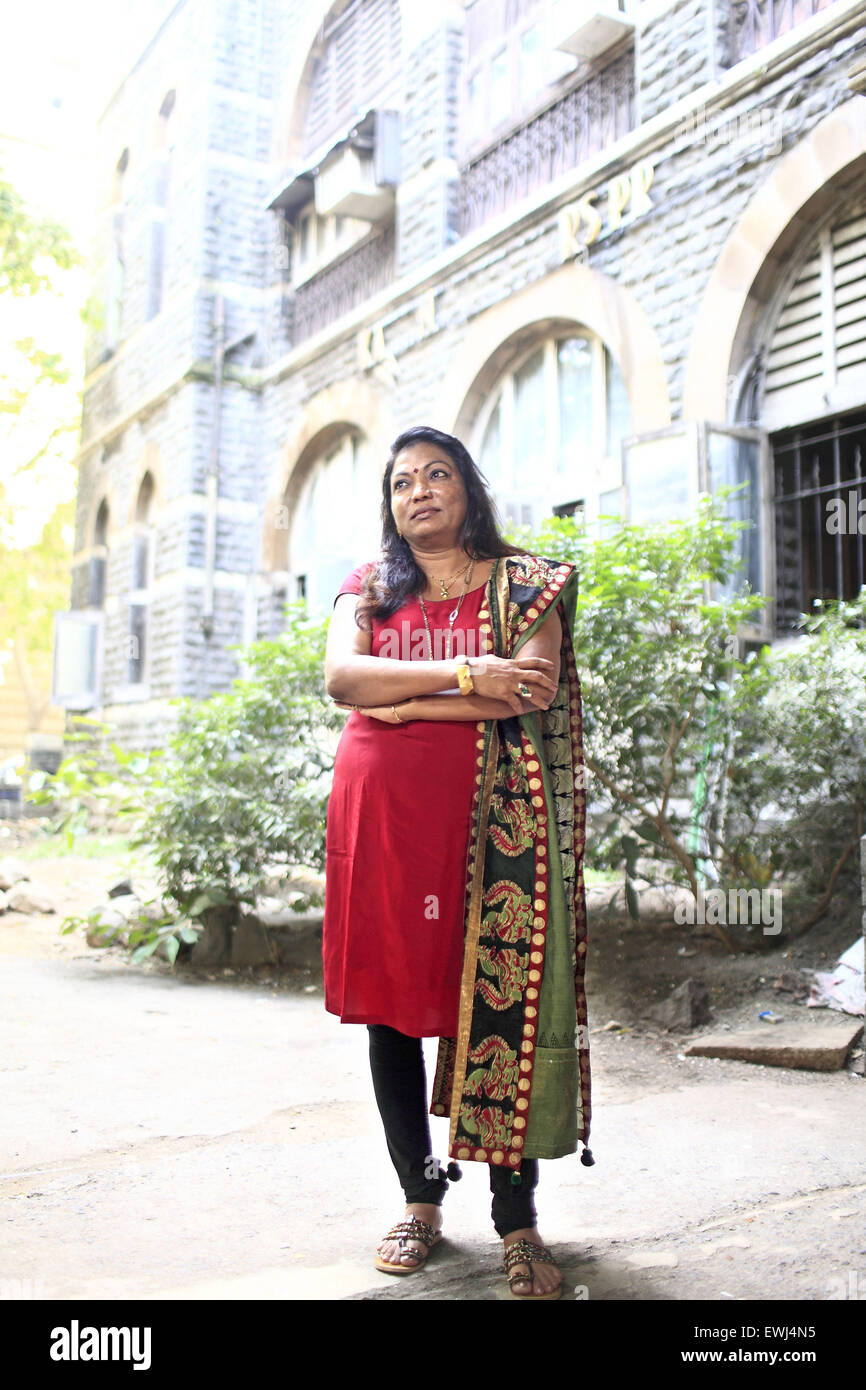 Mumbai, Maharashtra, India. 11th May, 2011. 6 May 2011, Mumbai - INDIA.Kalpana Saroj at her office in Mumbai.Kalpana - Stock Image