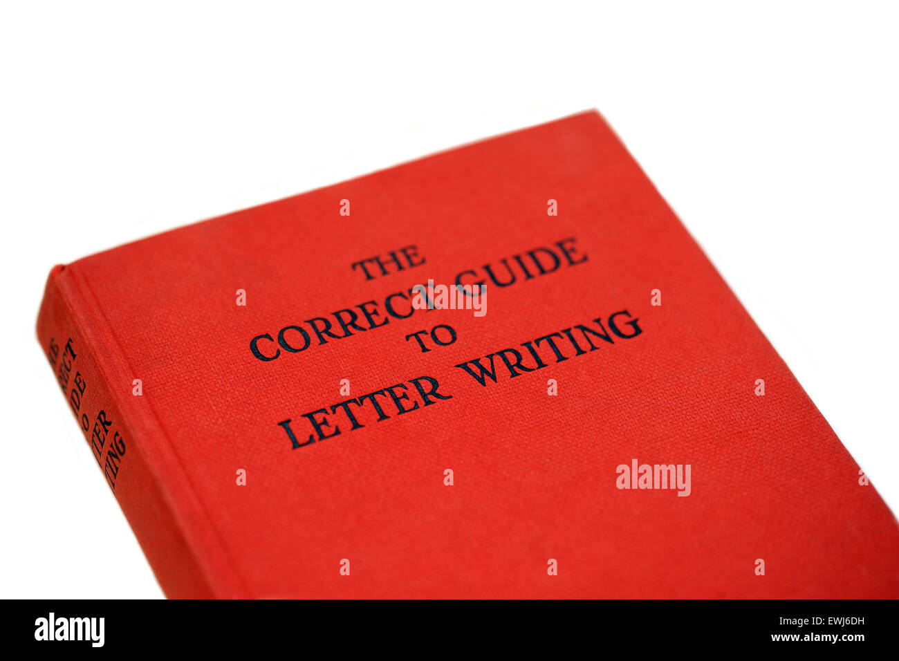 The Correct Guide to letter writing book - Stock Image