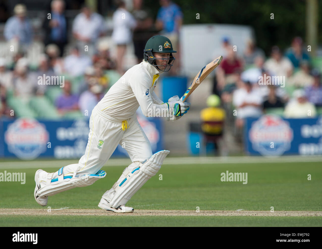 Australia's Michael Clarke on the opening day of the tour match at the Spitfire Ground, St Lawrence, Canterbury, - Stock Image