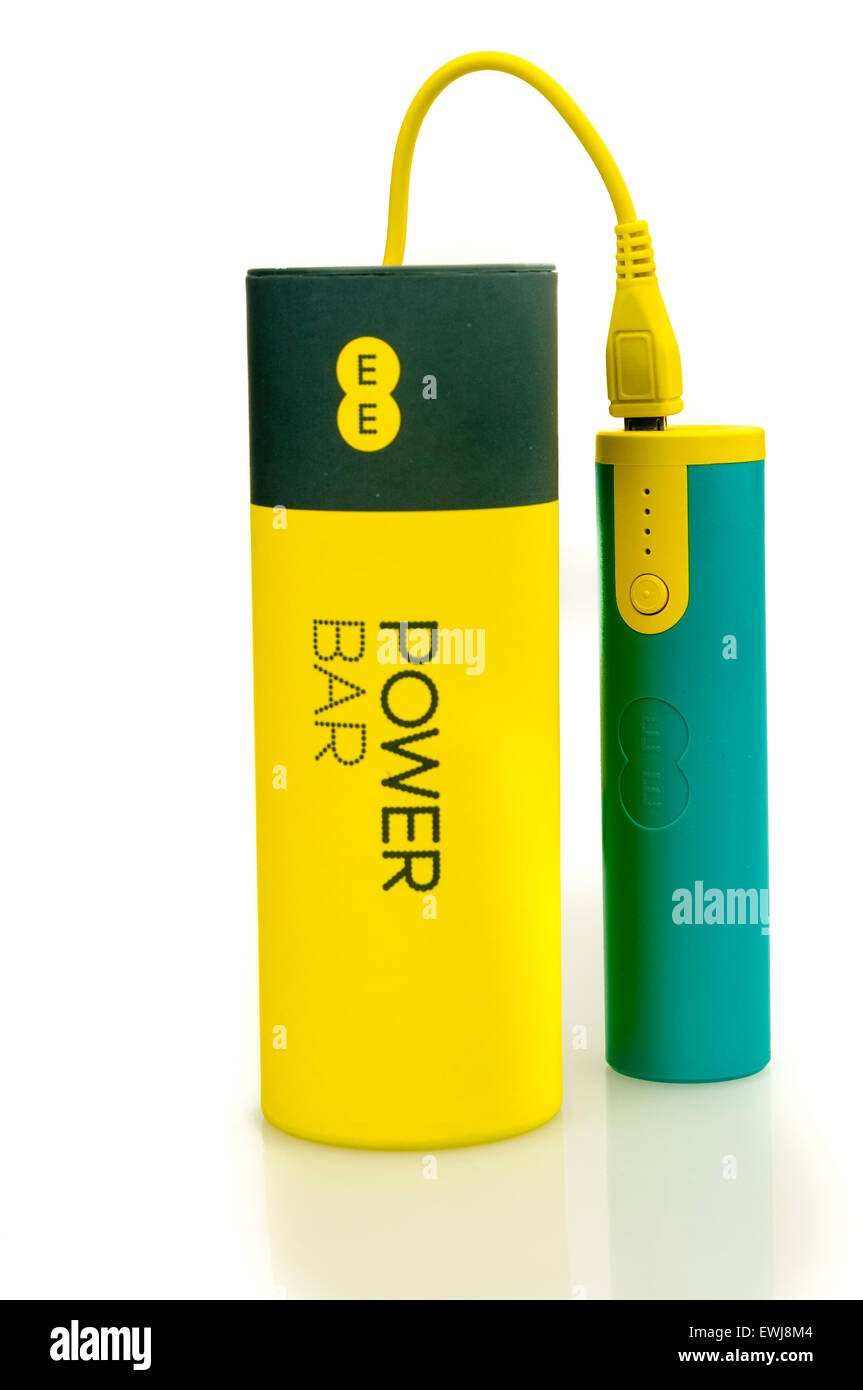 EE Power Bar mobile phone recharger, which were given free to customers.  In 2015, EE recalled all devices due to - Stock Image