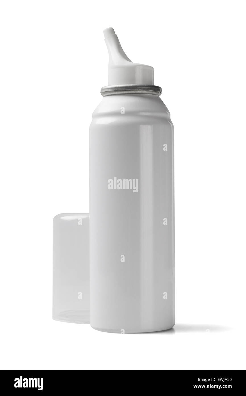 Nasal Spray on White Background Stock Photo