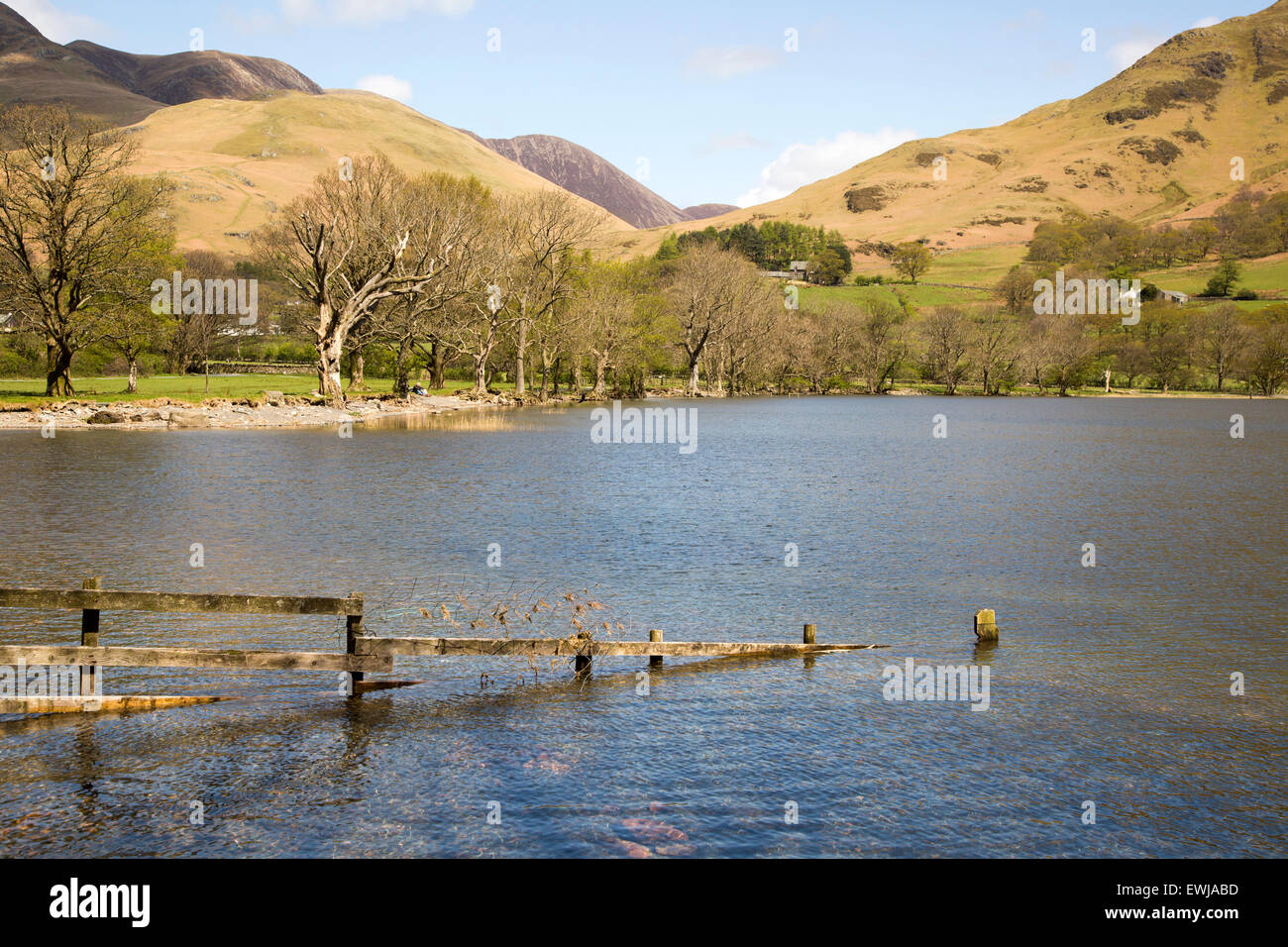 Landscape view of Lake Buttermere, Cumbria, England, UK - Stock Image