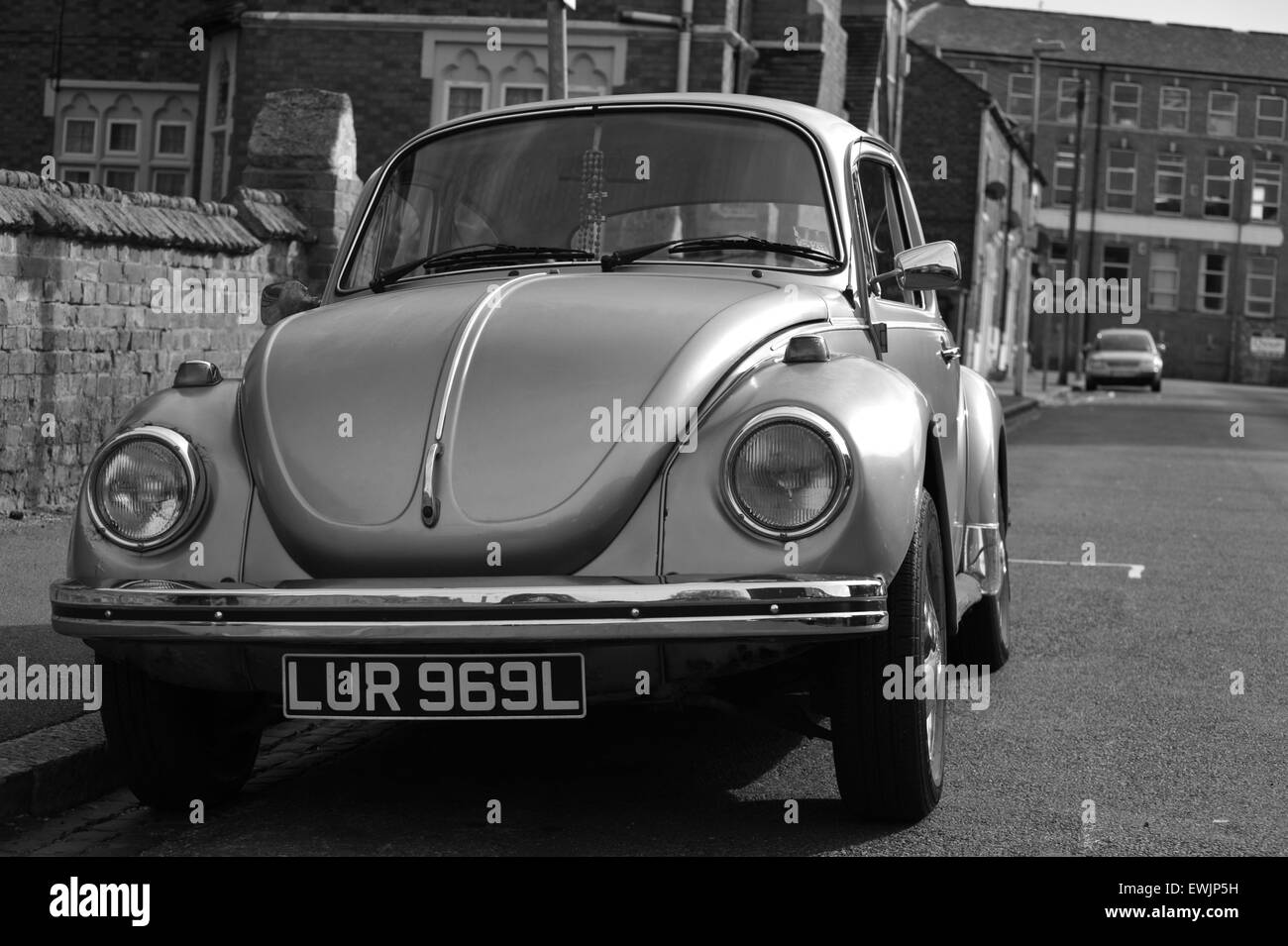 a beetle i found on my travels around  Northampton parked by a local church Stock Photo