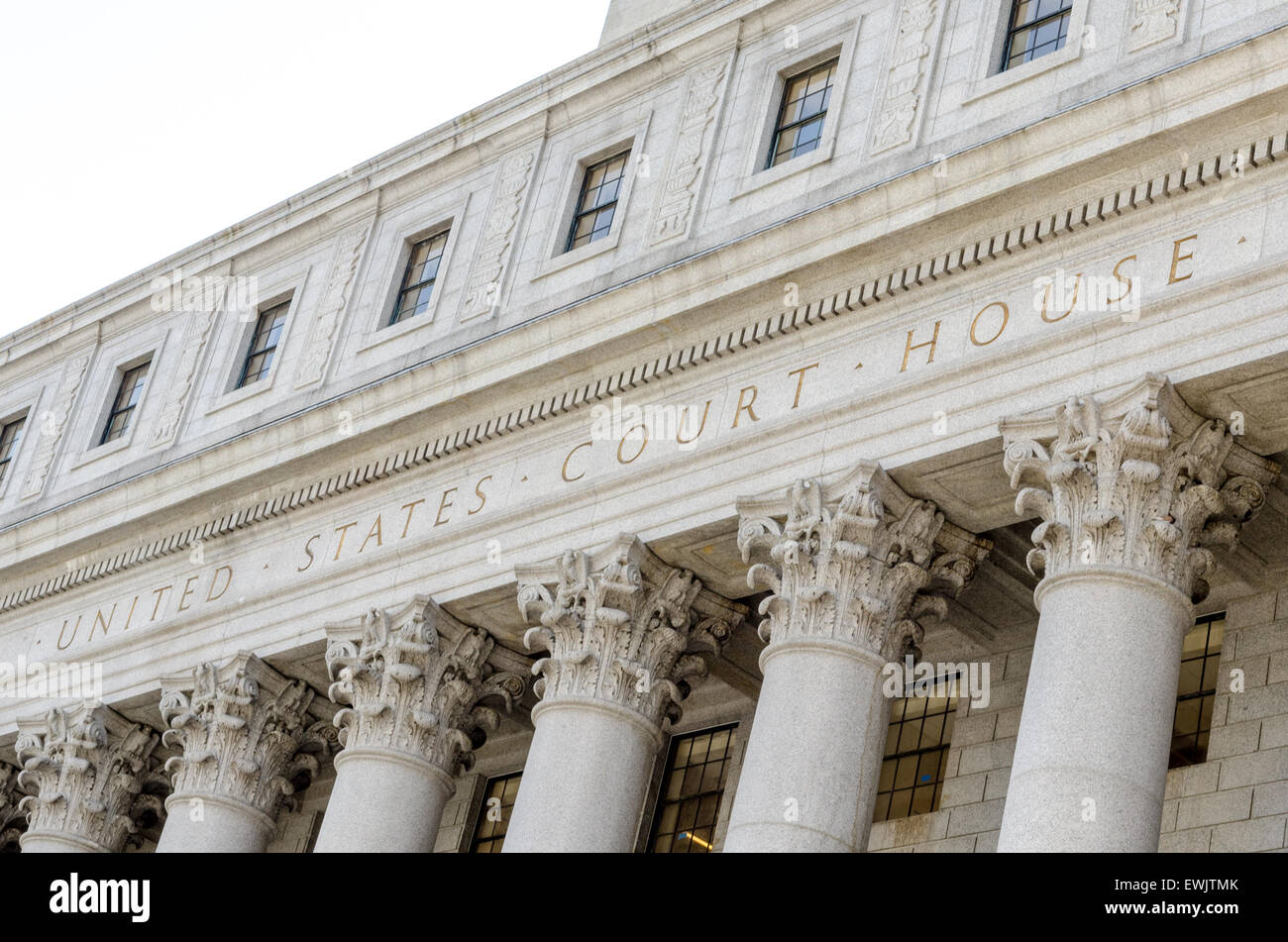 United States Court House in Lower Manhattan, New York city - Stock Image