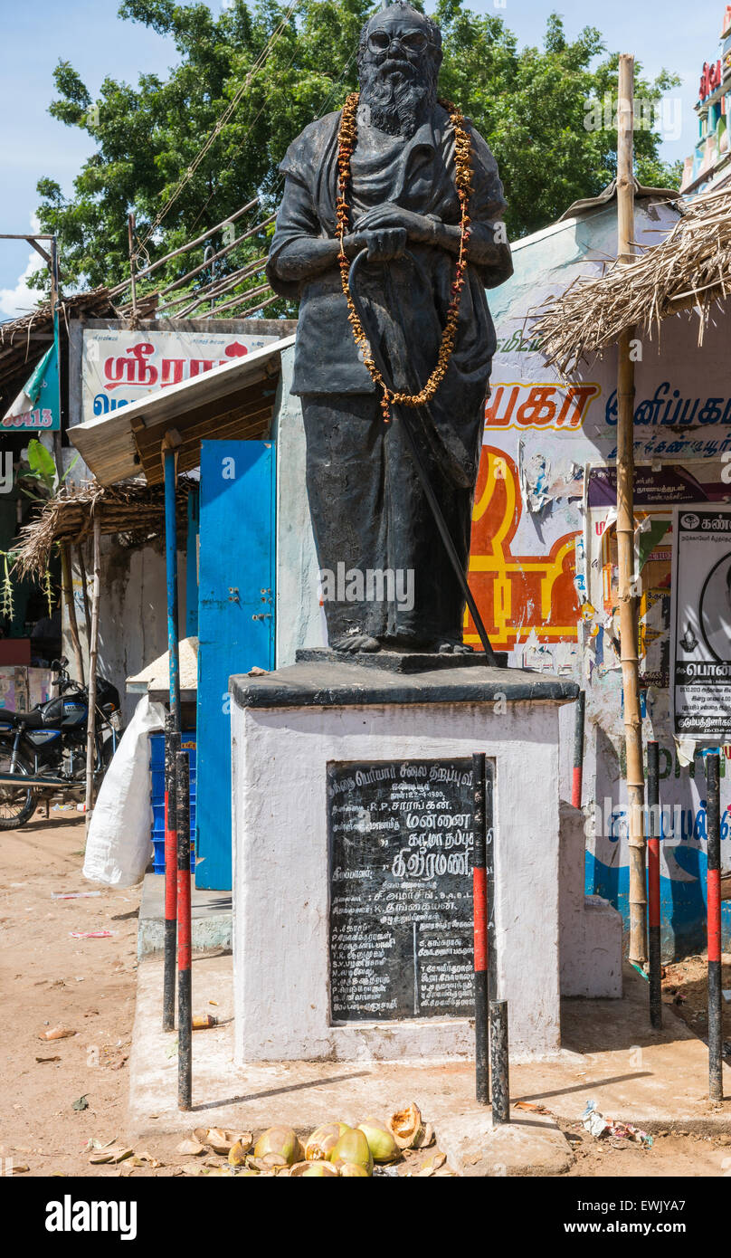 Statue of Periyar E. V. Ramasamy. Stock Photo