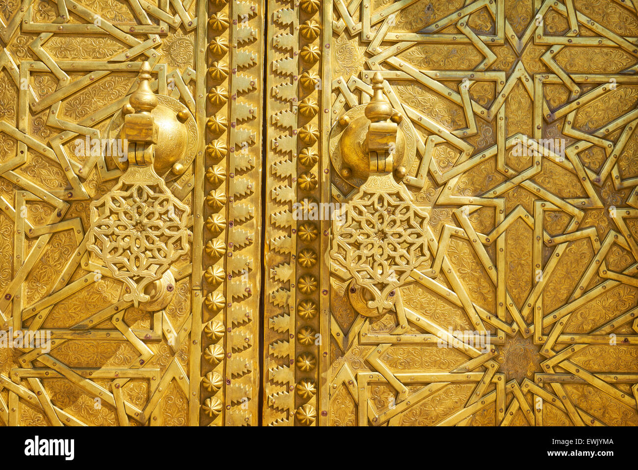 Door detail,The Royal Palace in Fez, Morocco, Africa - Stock Image