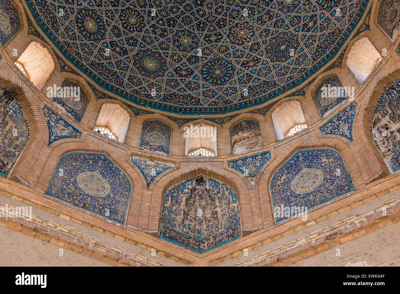 Dome of Turabeg Khanym Mausoleum at Konye Urgench Turkmenistan - Stock Image