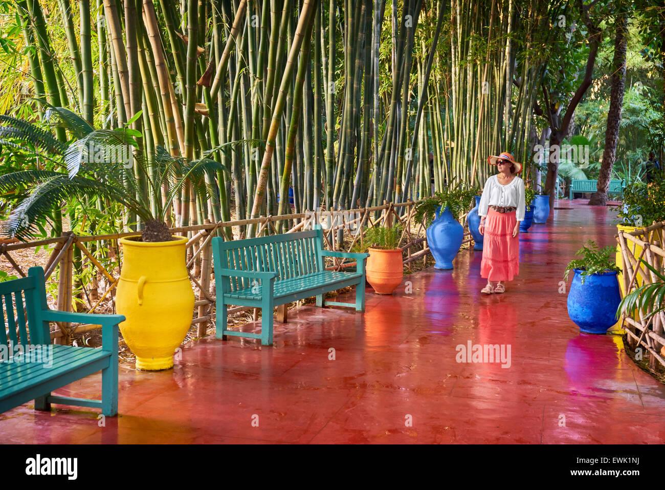 Jardin Majorelle Garden Marrakech Morocco Africa Stock Photo