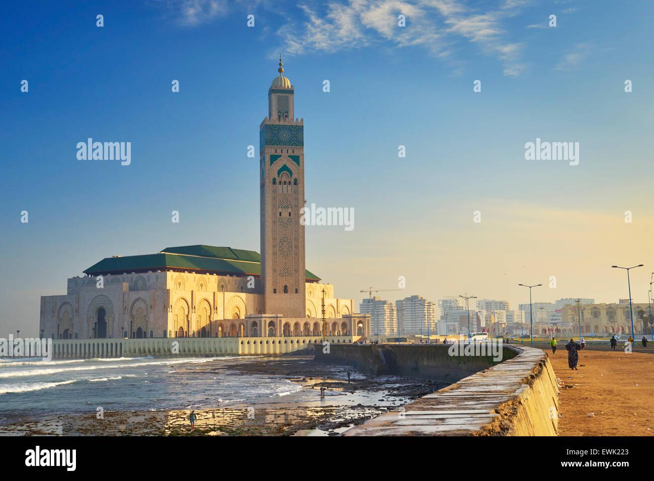 Hassan II Mosque, Casablanca, Morocco, Africa - Stock Image