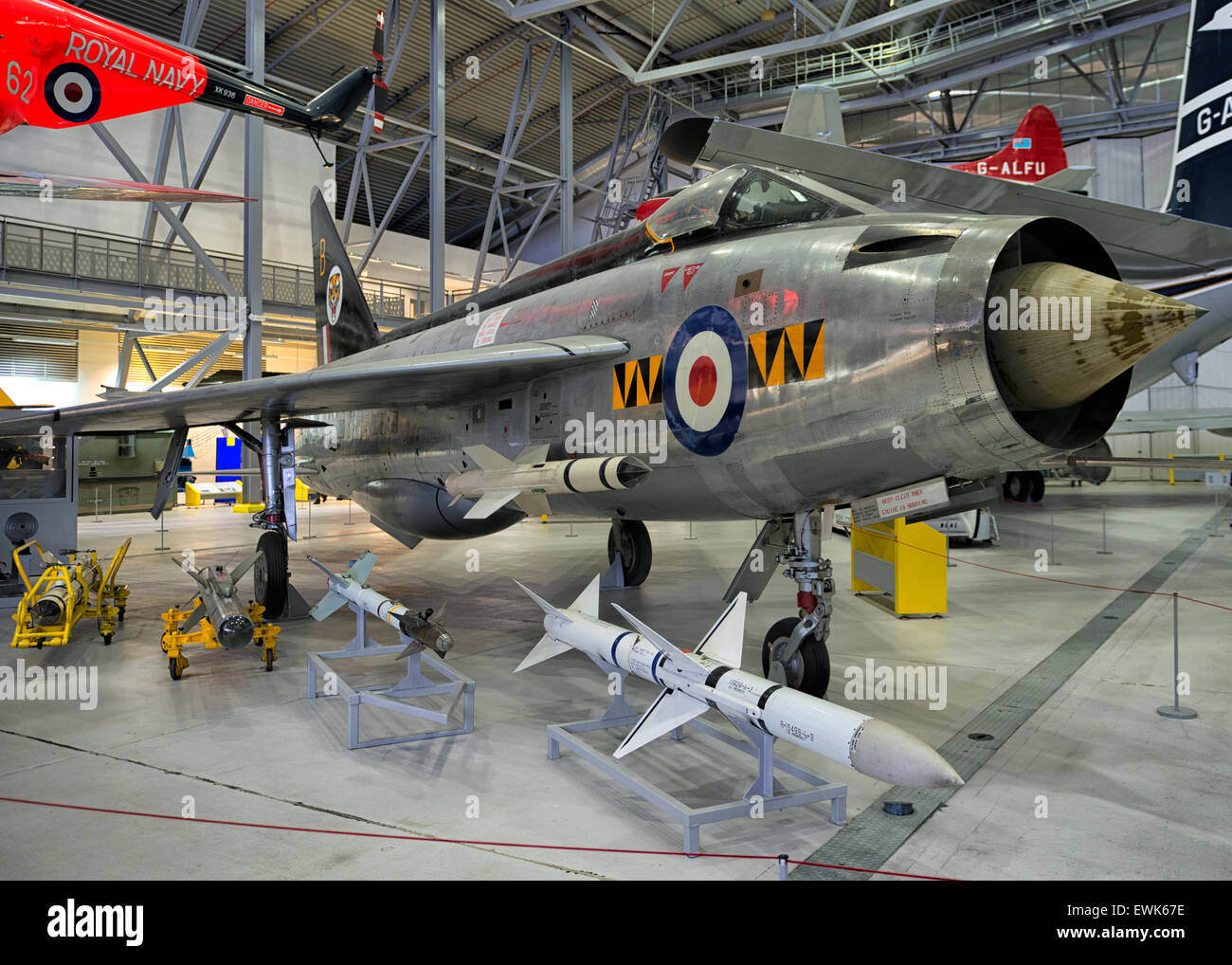 English Electric Lighting at IWM Duxford, UK - Stock Image