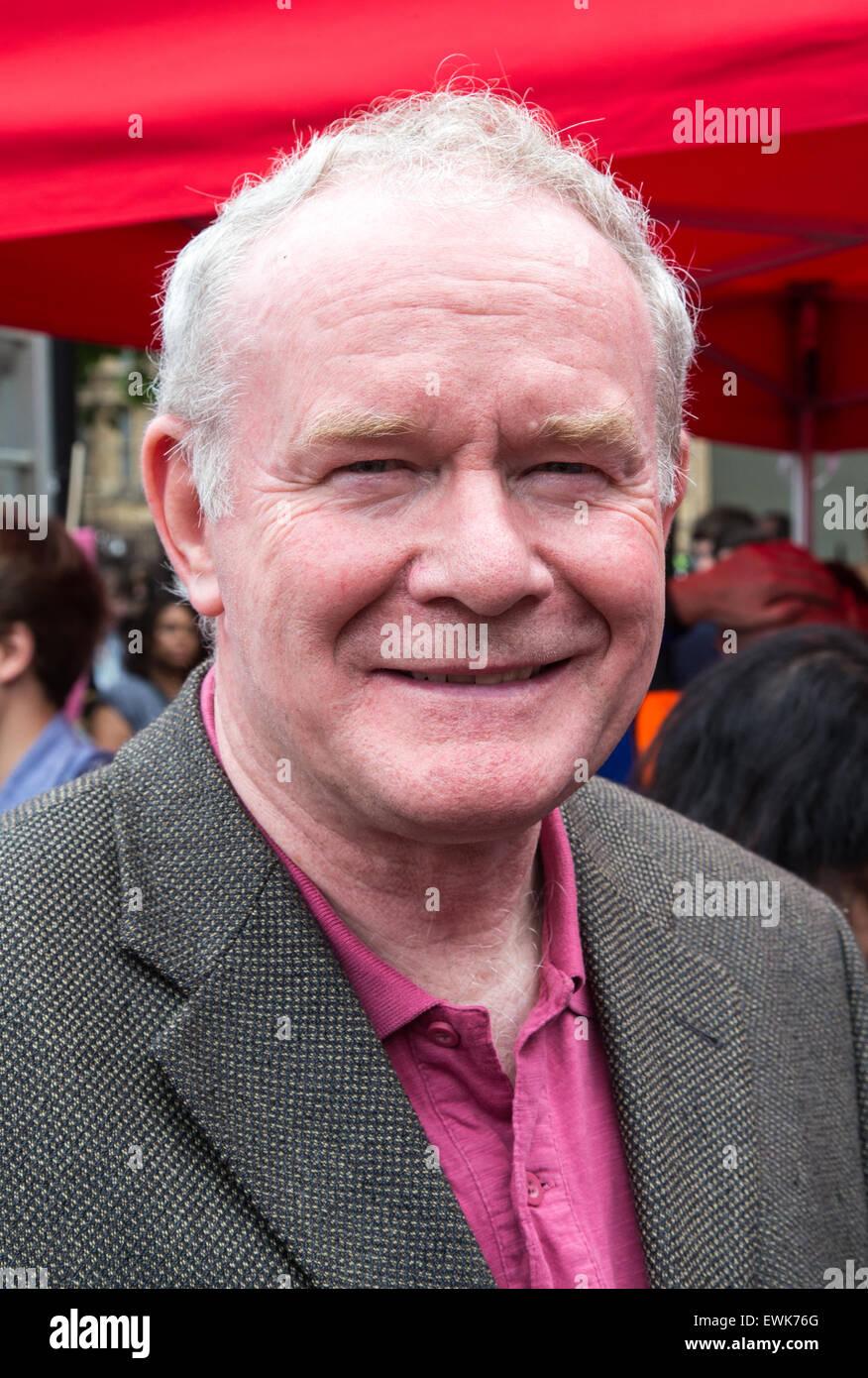 James Martin Pacelli McGuinness is an Irish republican Sinn Féin politician who has been the deputy First Minister - Stock Image