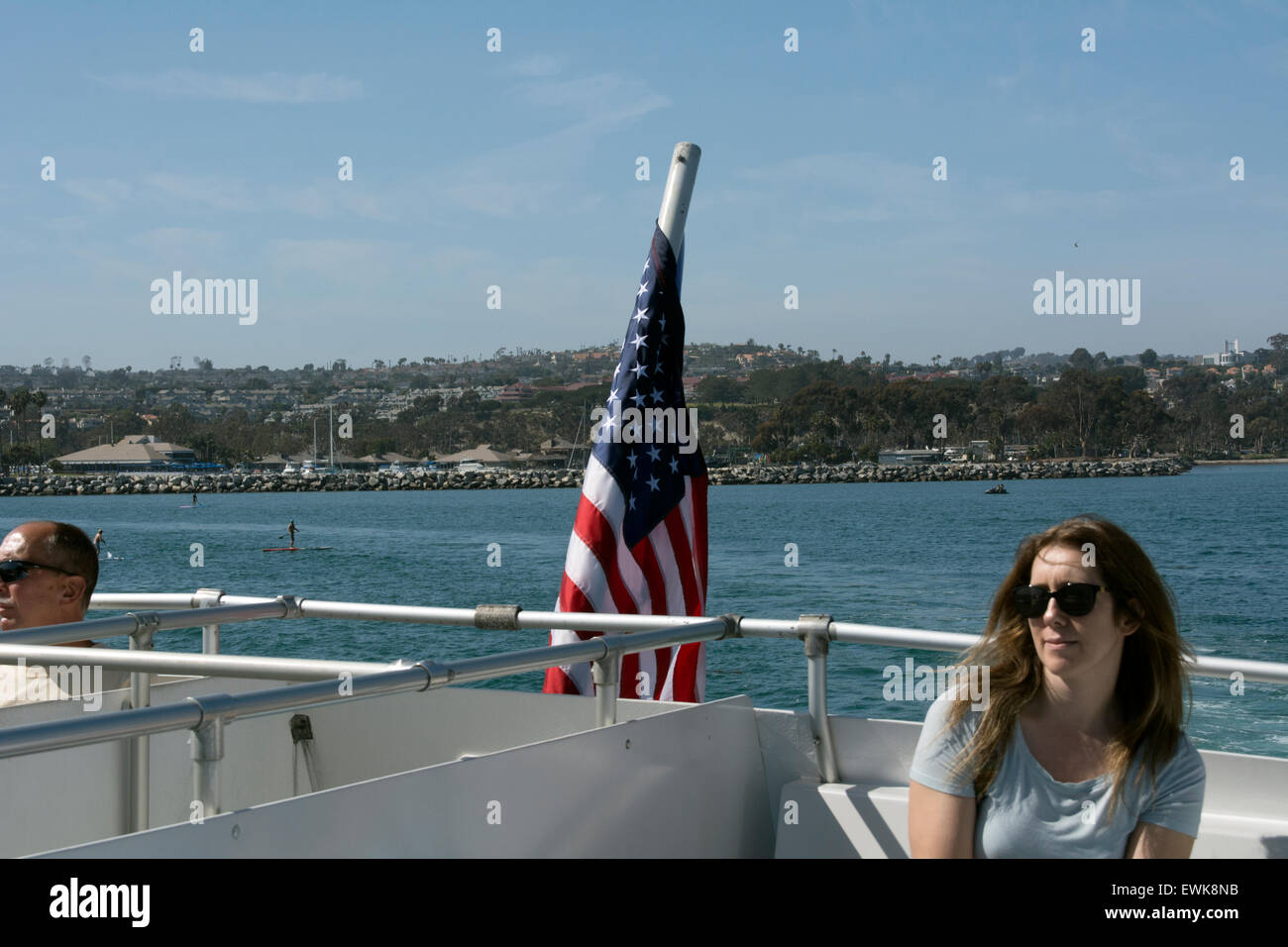 View from the Catalina Express ferry from Dana Point. - Stock Image