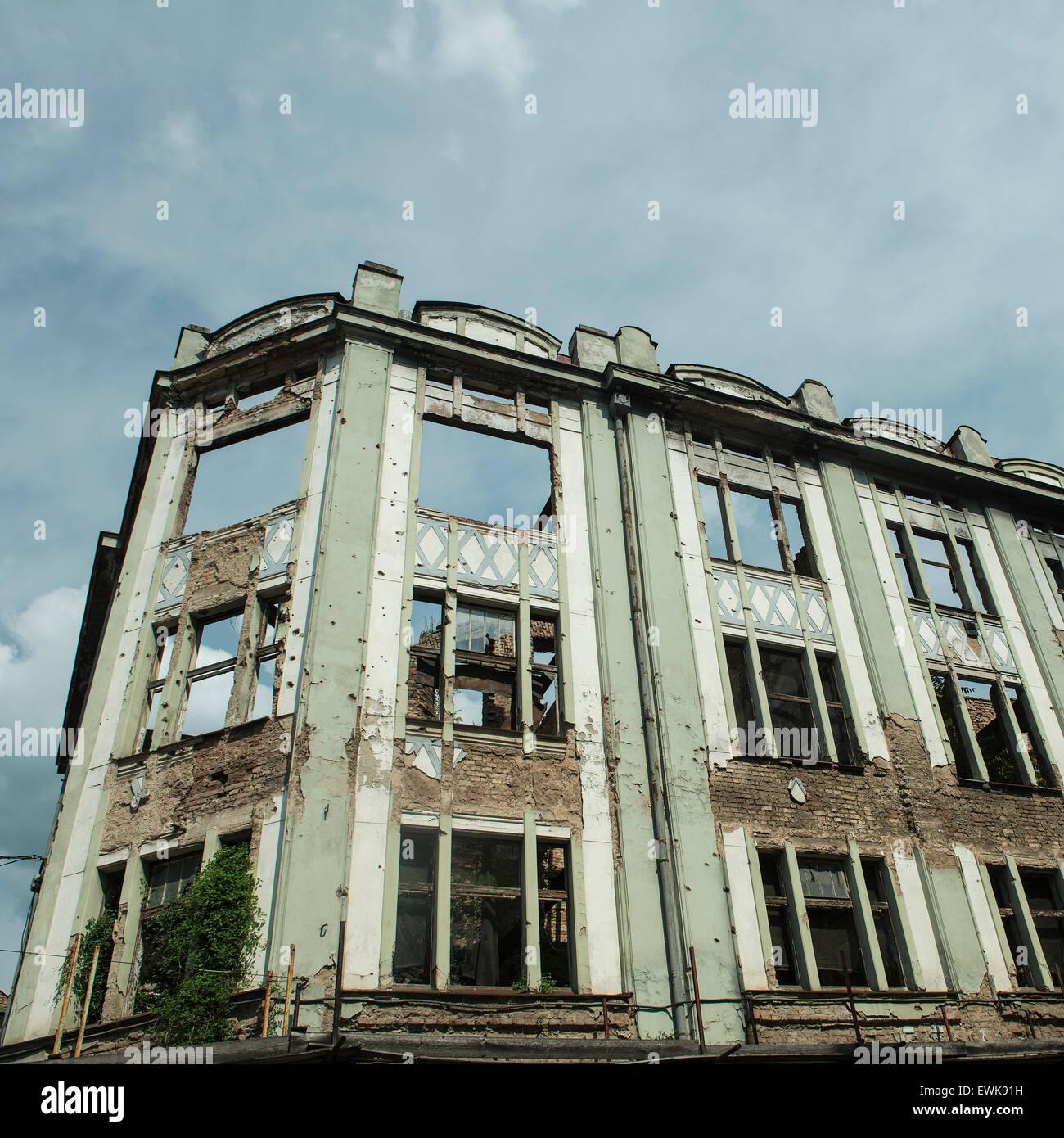 Racher Babic building, by architect Karl Kneschaurek build 1913, in Sarajevo - Stock Image