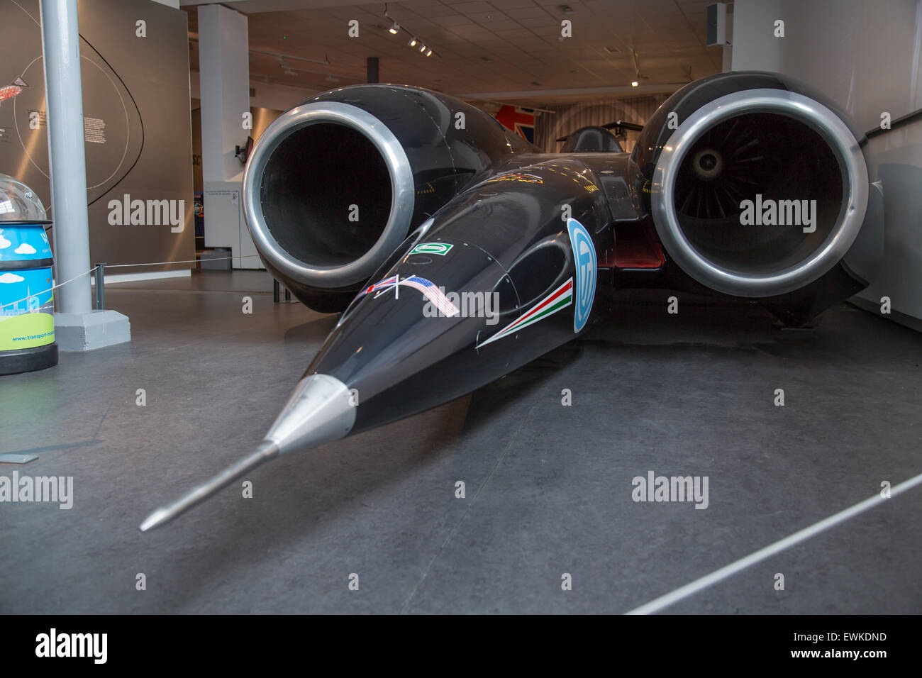 Thrust SSC Supersonic car - Stock Image