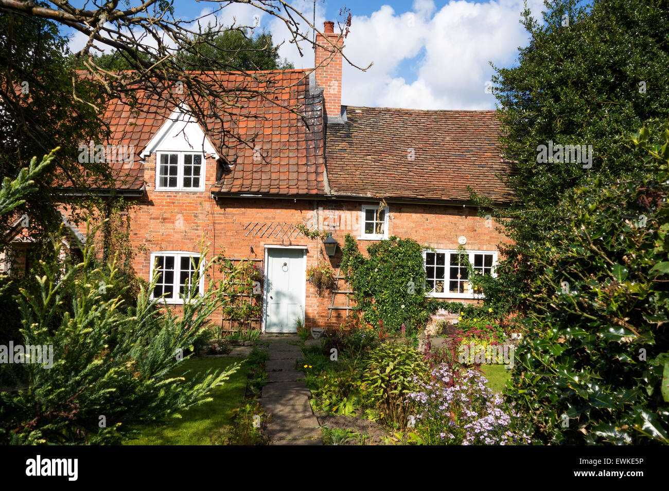 A quaint country cottage in a village England, U.K. - Stock Image