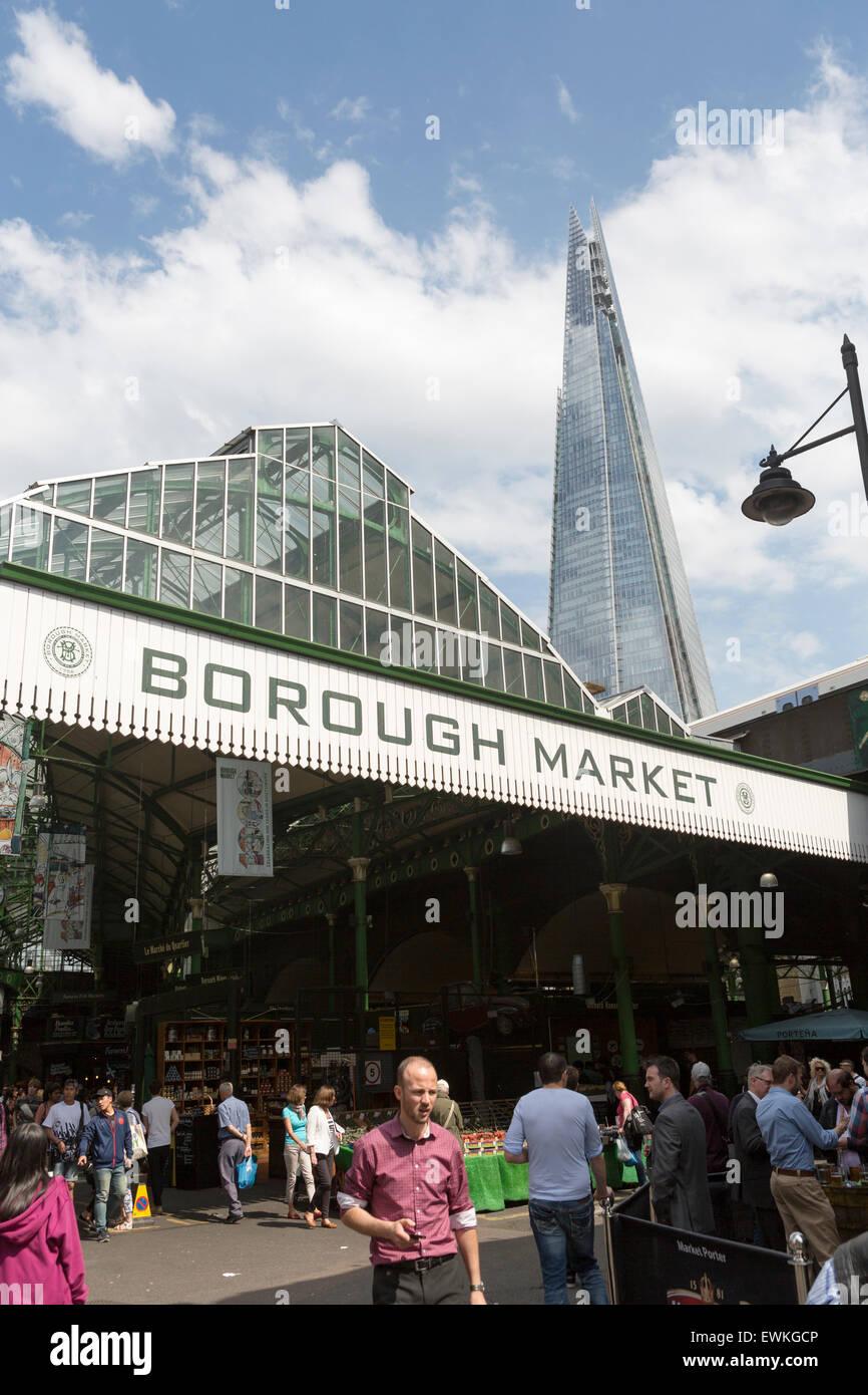 UK, London, Borough Market near Southwark Cathedral. - Stock Image