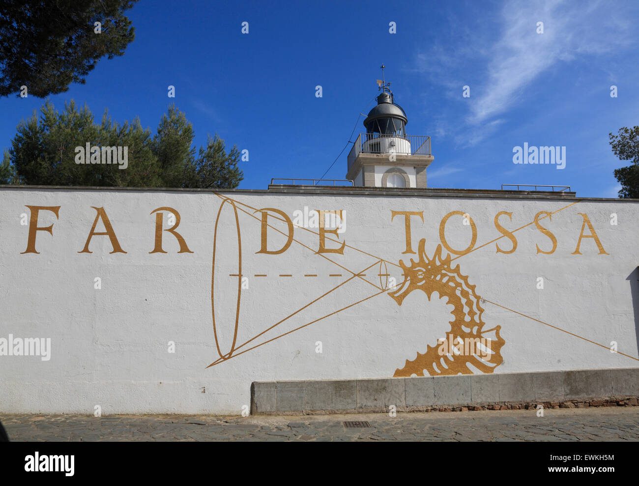 Tossa de Mar, lighthouse, Costa Brava, Catalona, Spain, Europe - Stock Image