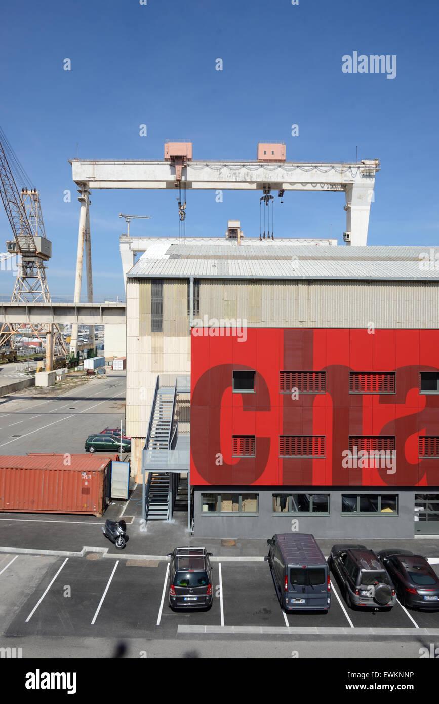 Chantier Naval Boatyard or Shipyard at La Ciotat Provence France - Stock Image
