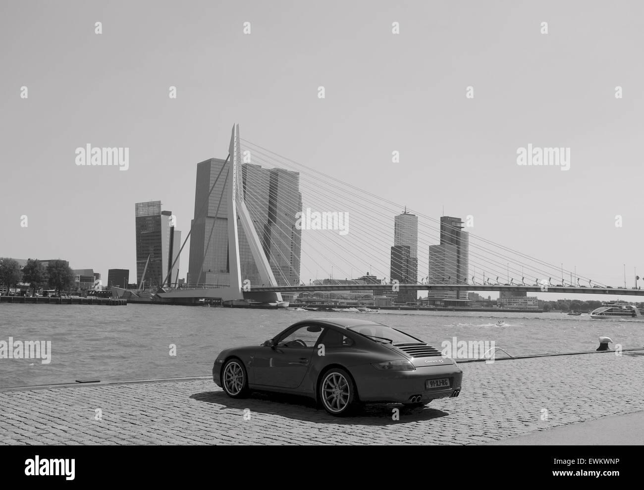 Rotterdam Skyline. The Netherlands. Stock Photo