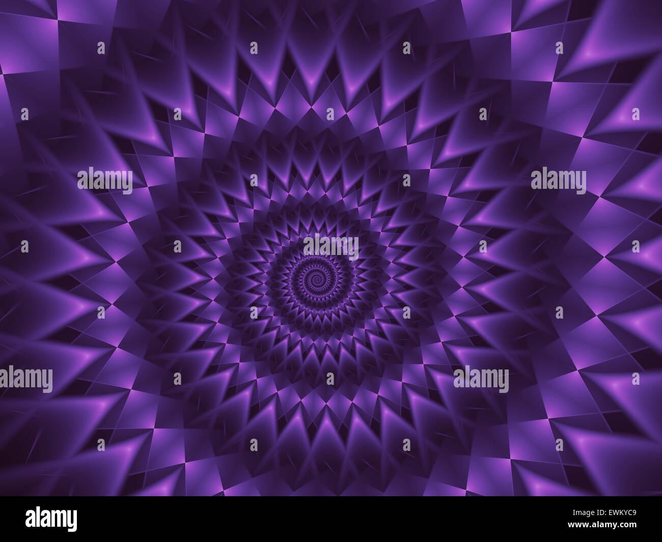 Abstract Purple Spiral Fractal Background - Stock Image