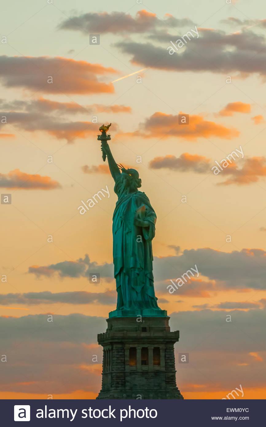 Statue of Liberty, New York Harbor, New York, New York USA. - Stock Image