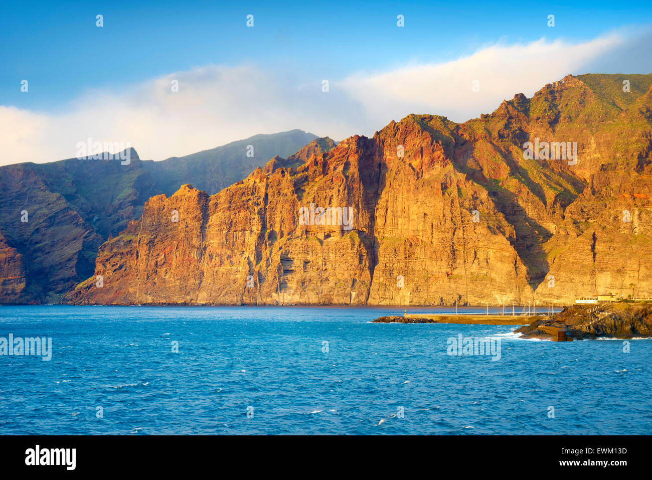 Los Gigantes Cliff, Tenerife, Canary Islands, Spain - Stock Image