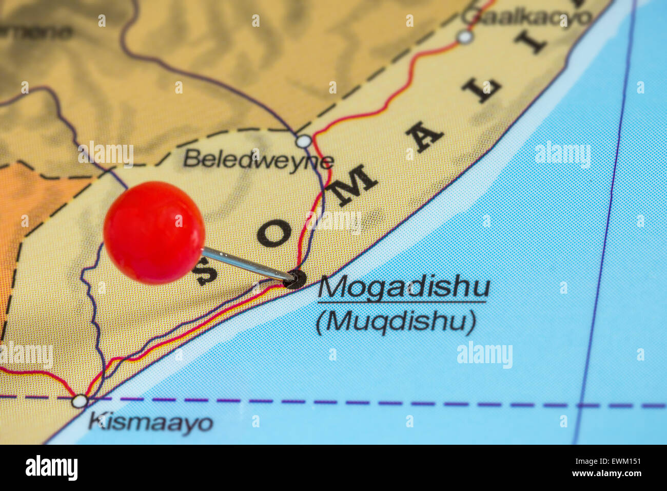 Map Of Somalia Stock Photos & Map Of Somalia Stock Images - Alamy