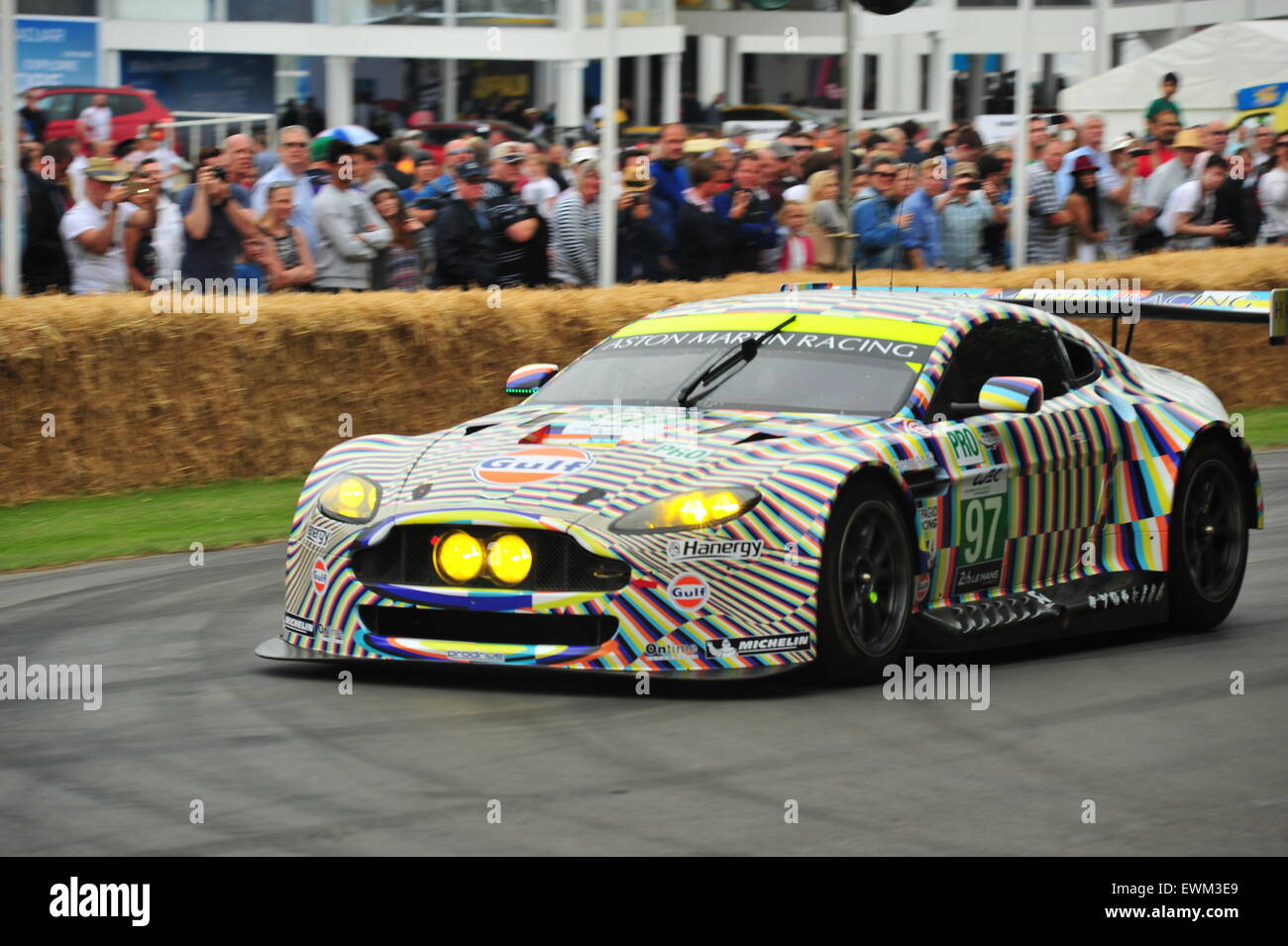 The Aston Martin Vantage Gte Art Car Painted By The German Artist Stock Photo Alamy