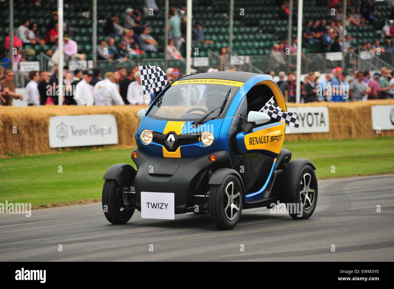Goodwood, West Sussex, UK. Sunday 28 June 2015 The final day of action at the Goodwood Festival of Speed. Racing Stock Photo