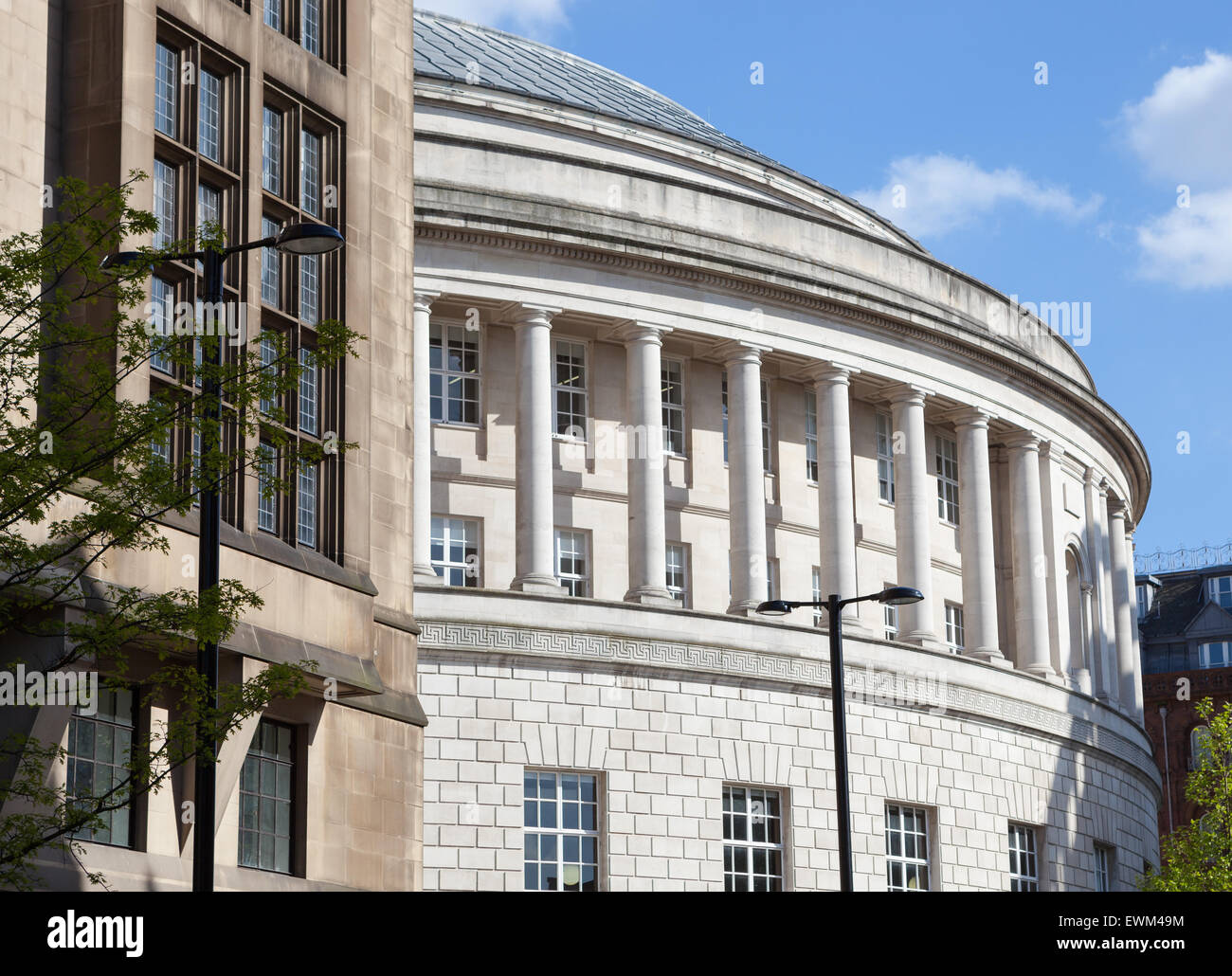 Central library and Manchester council building in Manchester England. - Stock Image
