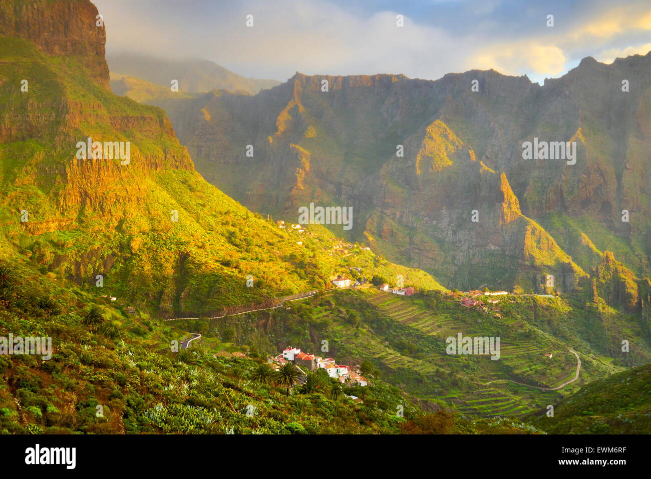 Masca village, Tenerife, Canary Islands, Spain - Stock Image