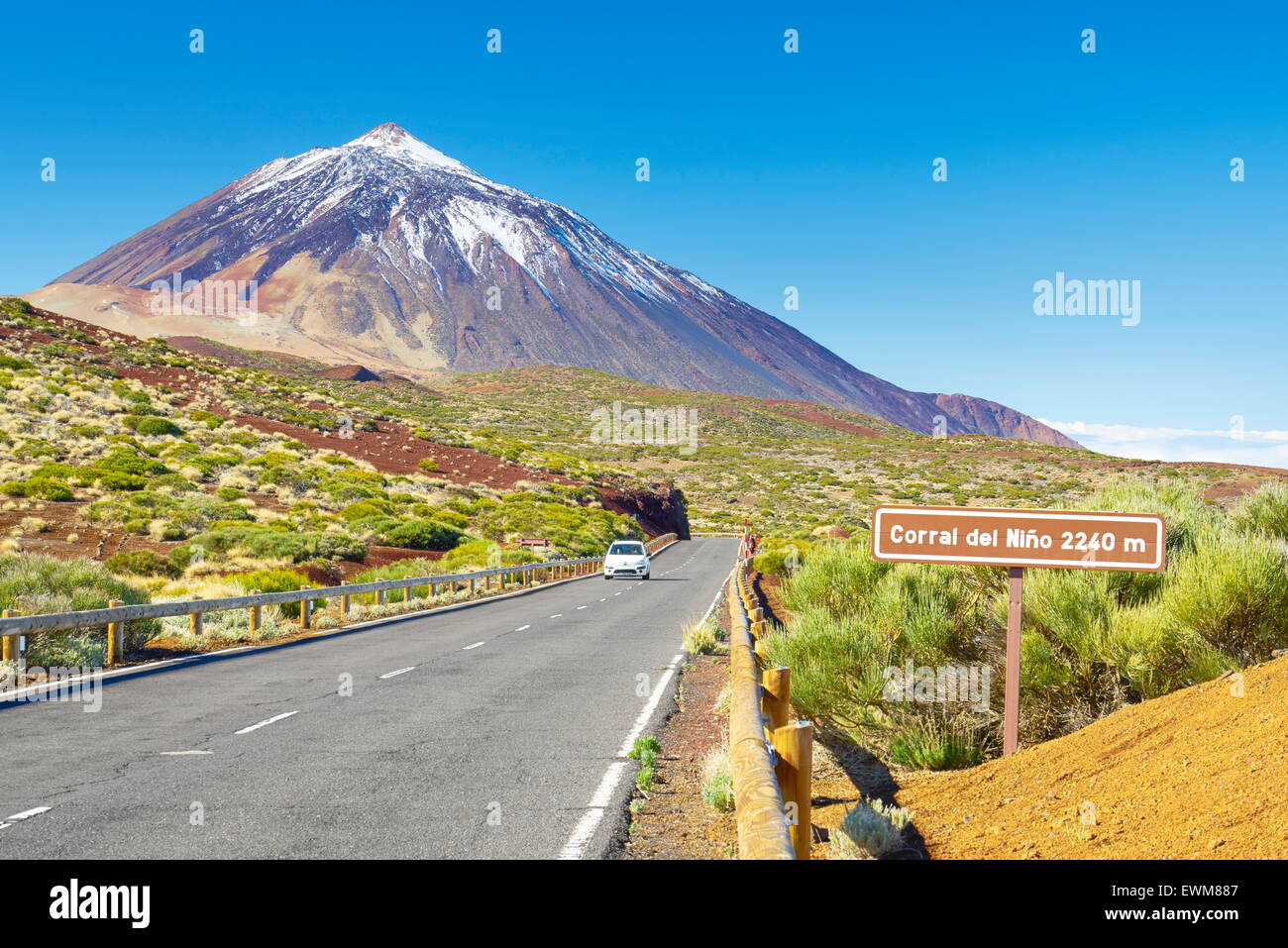 Tenerife, Canary Islands - the Road TF-24, Teide National Park, Spain - Stock Image