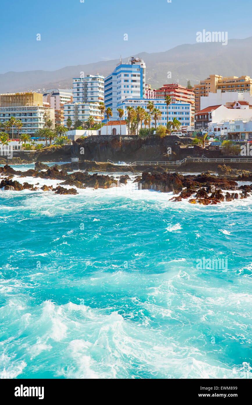Puerto de la Cruz, Tenerife, Canary Islands, Spain - Stock Image