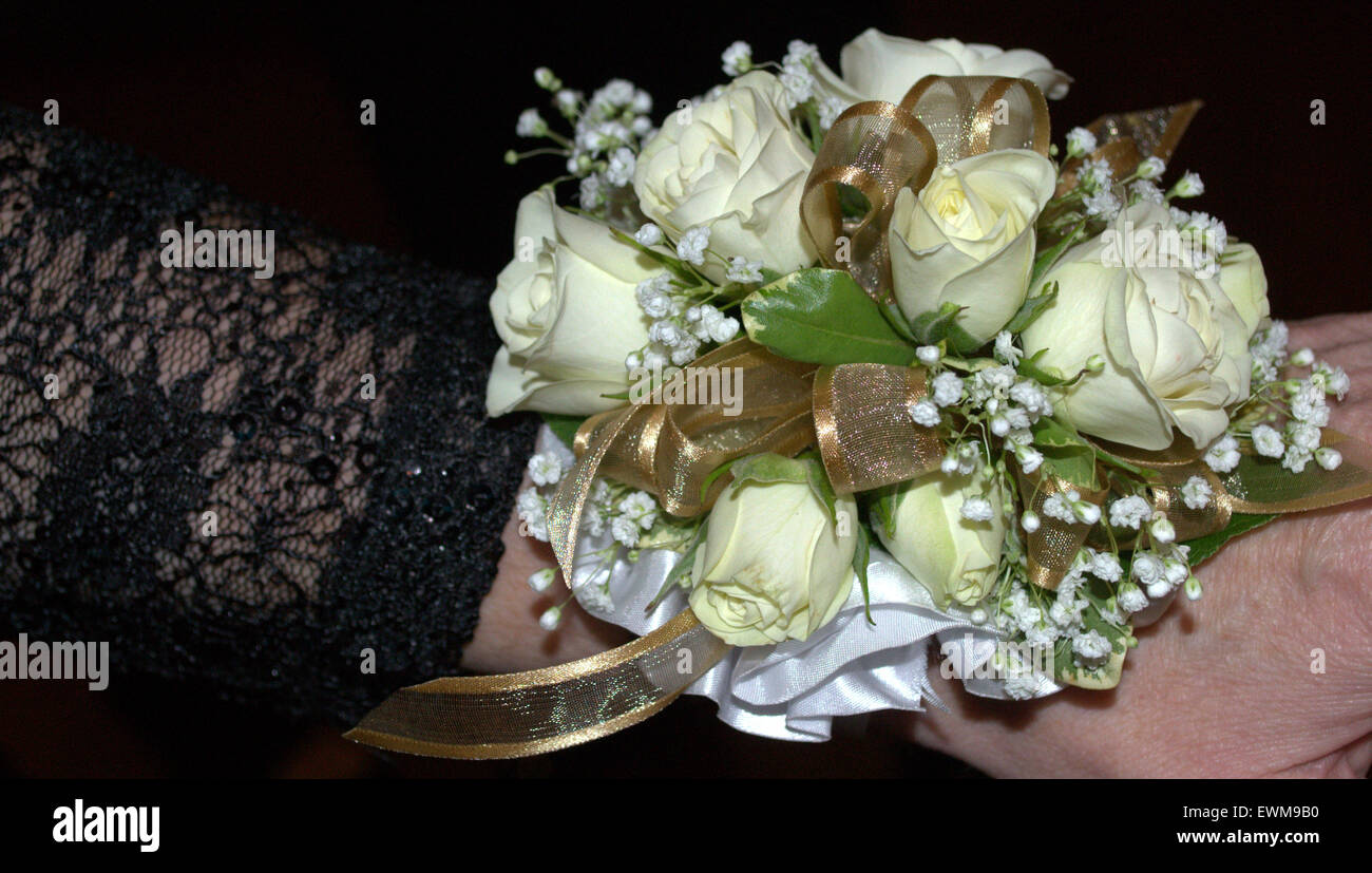 Wrist Corsage Stock Photos Wrist Corsage Stock Images Alamy