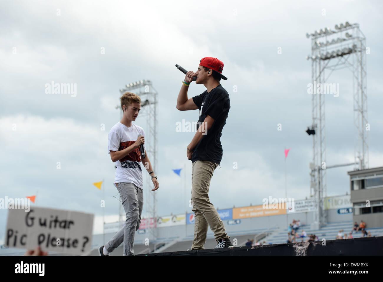 Hershey, Pennsylvania, USA. 28th June, 2015. JACK JOHNSON and JACK ...