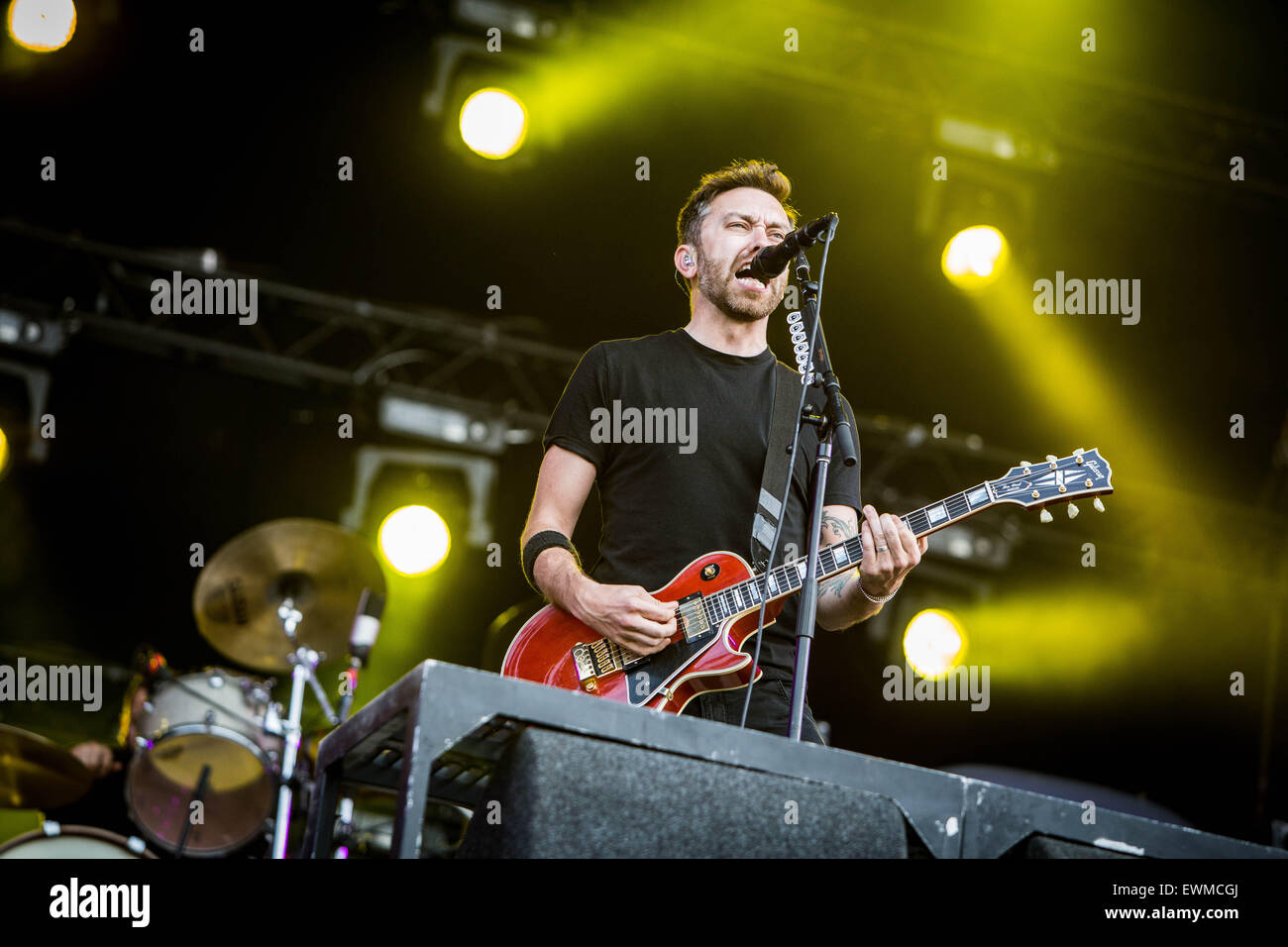 Rise Against perform live at Pinkpop Festival 2015 in Landgraaf Netherlands © Roberto Finizio/Alamy Live News - Stock Image
