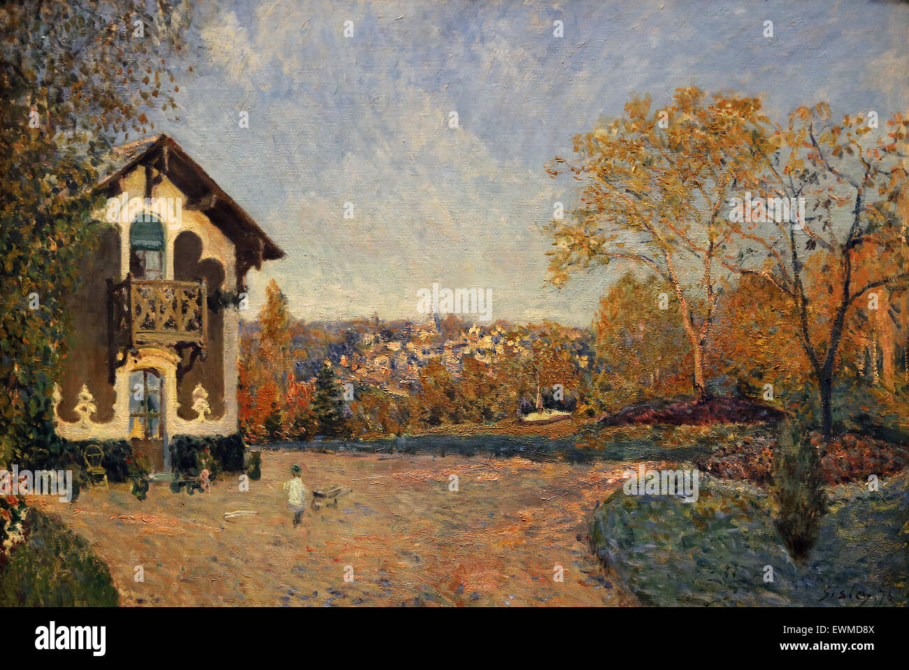 Alfred Sisley (1839-1899). French painter. View of Marly-le-Roi from Coeur-Volant, 1876. Oil on canvas. - Stock Image