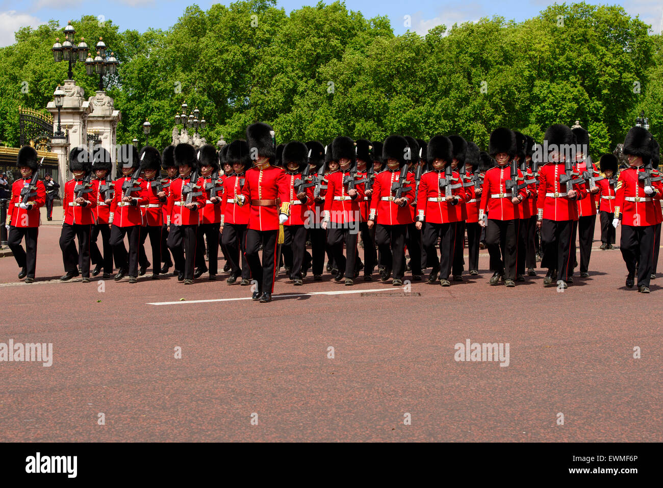 Changing of the Guard, Buckingham Palace, London, England, United Kingdom - Stock Image