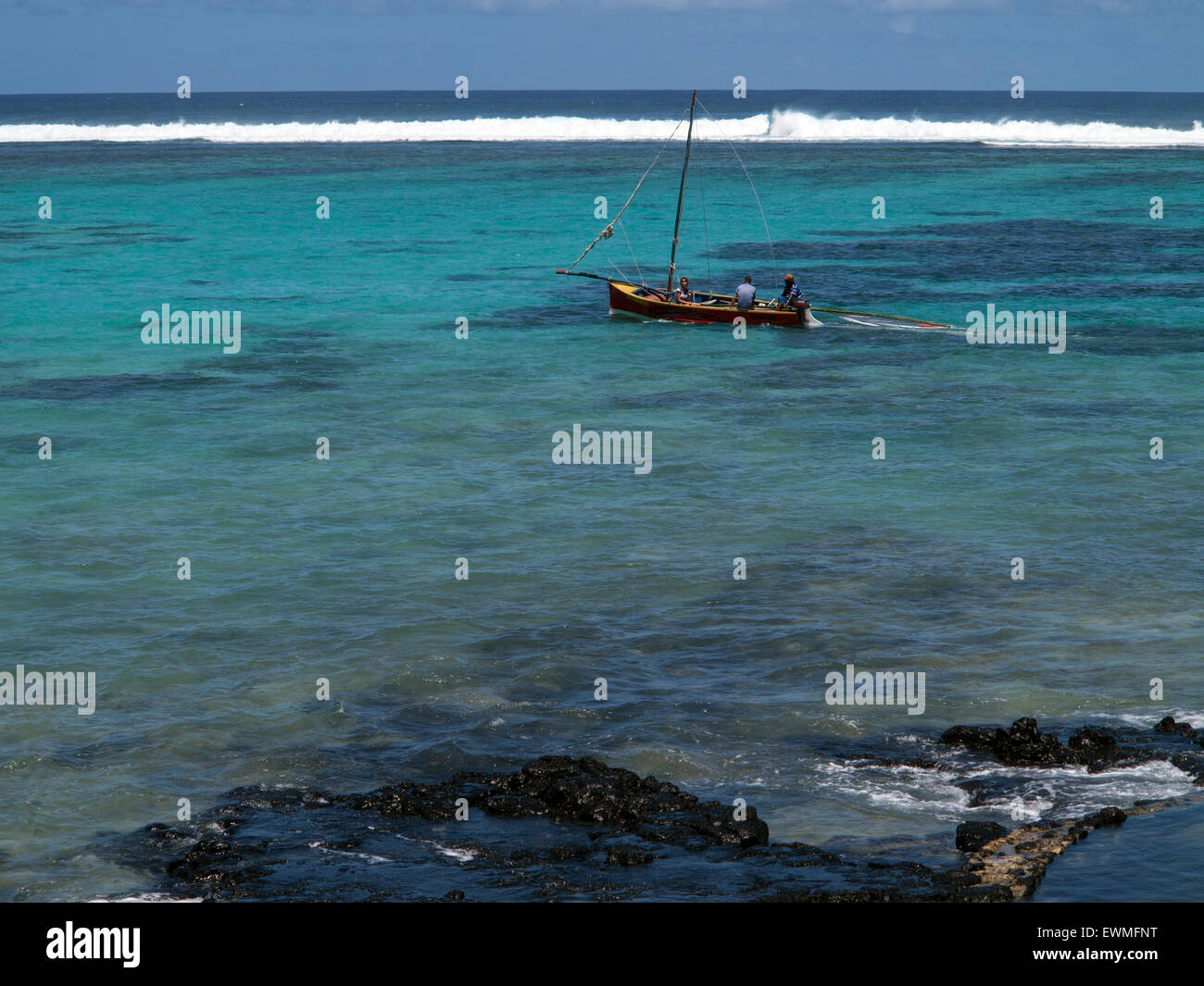 barriere de corail Blue Bay ile Maurice Stock Photo: 84659284 - Alamy