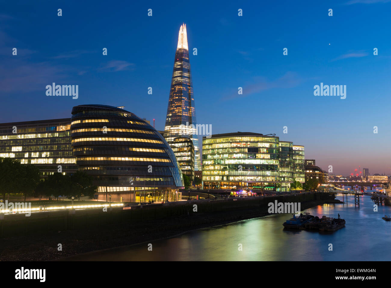 The Shard skyscraper, Thames, London, England, United Kingdom - Stock Image