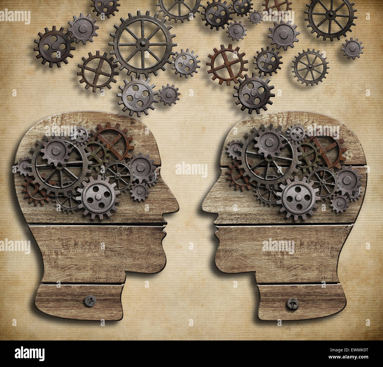 concept of communication, dialog, information exchange - Stock Image