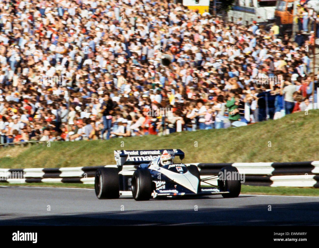 Brabham BT52, Nelson Piquet. 1983 GP of Europe Brands Hatch, 25/9/1983. - Stock Image