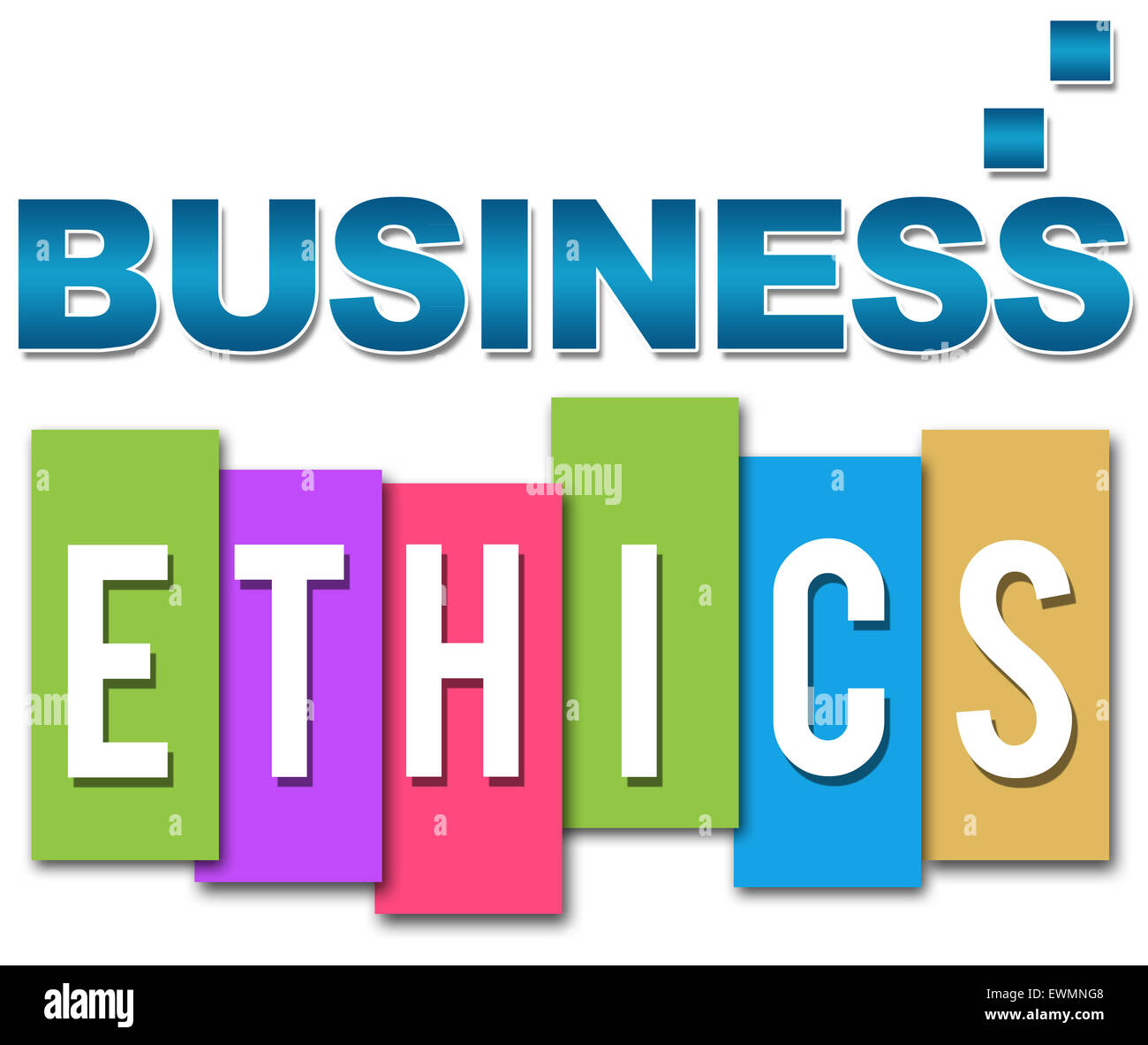 Business Ethics Professional Colorful - Stock Image