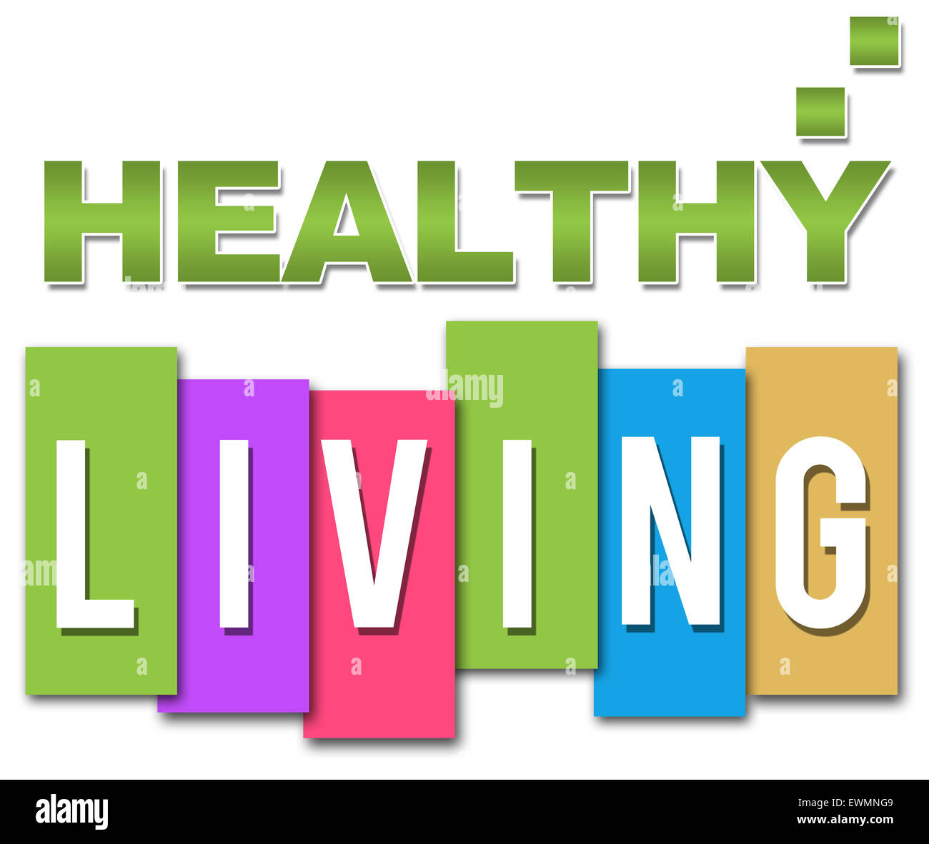 Healthy Living Professional Colorful - Stock Image